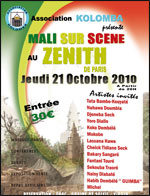 Mali sur scène au Zénith de Paris le 21_10_2010