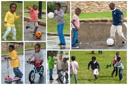 les enfants dans le parc de Boussy